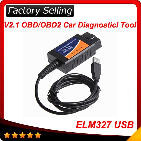 Top vente 2014 elm327 interface usb obd2 auto scanner obdii obd 2 v1.5
