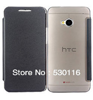 Wholesale Top Quality PU Microfiber Leather +Ultrathin PC Flip Hard Shell Case For New HTC One M7,100PCS With DHL Free