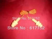 CE noise reduction silicone earplug(SNR 29dB), tree shape swimming earplugs with string, Silica gel earplug in orange color