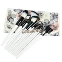 New Professional 12PCS Cosmetic Makeup Brush Set Make-up With Bag Black Pink 16480