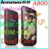 "original Lenovo A800 phone MTK6577 Dual Core 1.2Ghz 512M+4G Dual SIM 4.5"" IPS Android 4.0 Google Play"