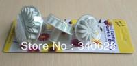 Factory Wholesale Lotus shape cake cookies machine plunger paste sugar craft decorating tools 10sets/lot
