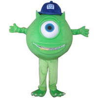 100% Real Pictures! Deluxe Mike Wazowski Mascot Costume, With Helmet and Mini Fan! Free Shipping! FT30593