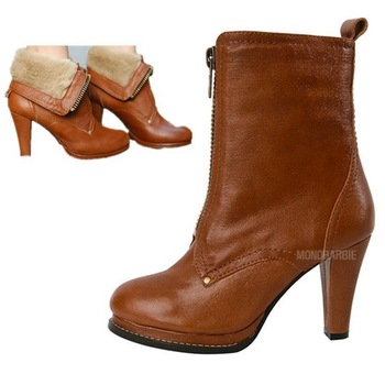 Big Promotion Brown and Colors Short / High Bootlegging High Quality PU Booties For Lady US 5-8