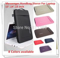 "Newest Nylon Shoulder Messenger Handbag For Laptop 13"",14"",15"",15.6 inch, Sleeve Case For Macbook Notebook PC,Free Drop Ship."