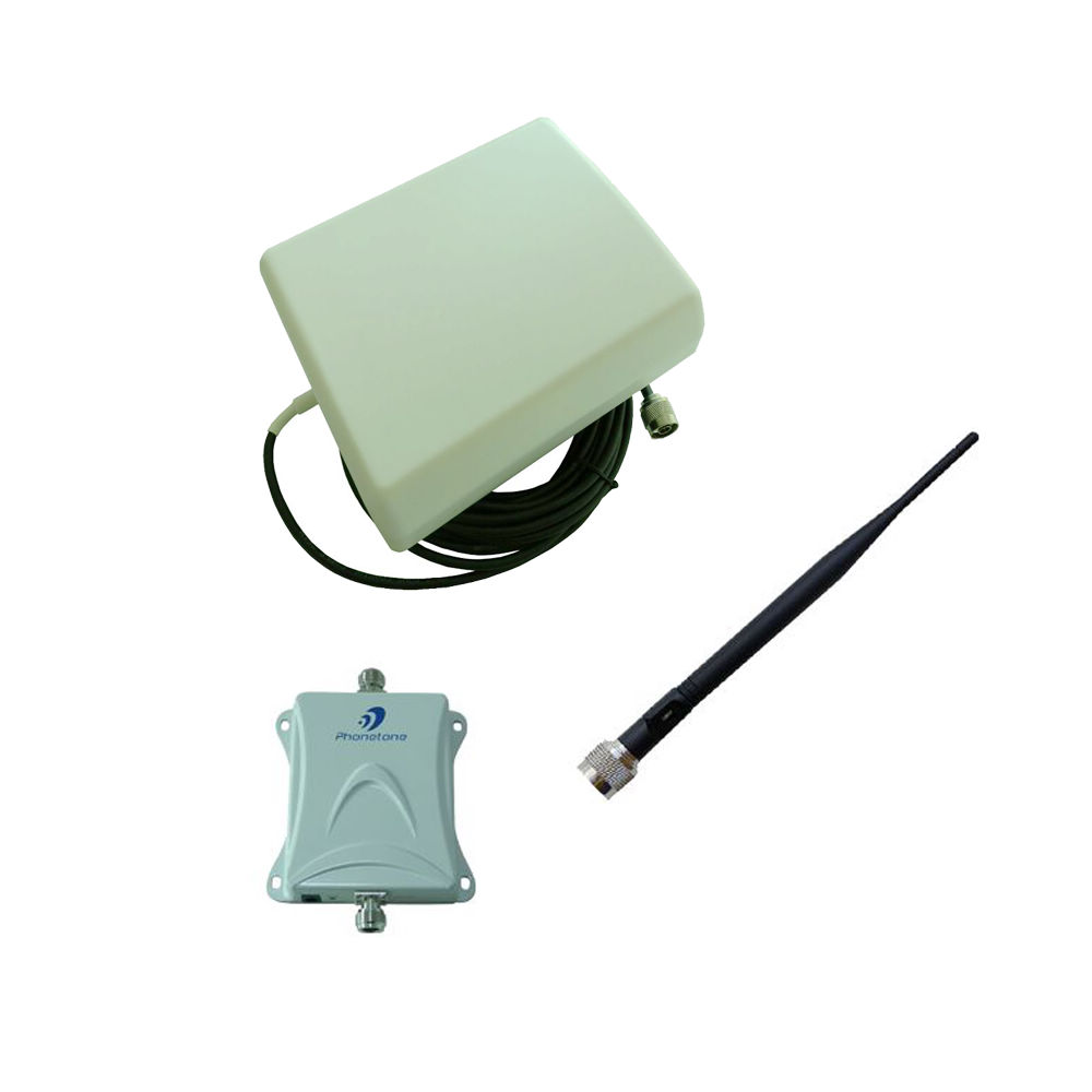 70dB 700MHz Single Band Booster Verizon 4G LTE Panel and Whip Antenna with Black Cable Cell Phone Signal Repeater Amplifier(China (Mainland))