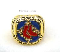 Free Shipping !size 10 replica 18k gold boston Red Sox 2007 baseball World Championship Ring as gift
