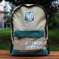 FREE SHIPPING Attack on Titan school bag Taka Shingeki no Kyojin bag Survey corps school bag pack shoulder bag Allen backpack