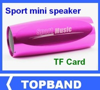 Wholesale  Sports Music Portable Mini Speaker/Sound Box MP3 Player on bike bicycle with FM Radio and Micro SD/TF card reader