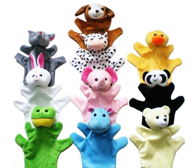 Cute Big Size Animal Glove Puppet Hand Dolls Plush Toy Baby Child Zoo Farm Animal Hand Glove Puppet Finger Sack Plush Toy TT004(China (Mainland))