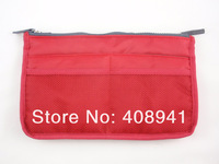 Free shipping+Purse Cosmetic Storage Organizer Bag Handbag Makeup Bag,10 colors,100pcs/lot