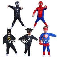 Halloween costume,spider man suit spider-man superman Cartoon kids Set HY--00028