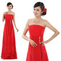 Elegantly Bridal Dress Wedding Gown, Off The Shoulder Chiffon Length Floor Dress Free Shipping 11CLF14