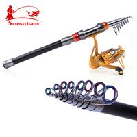 Superhard Fishing Rods 3.3M 10.83FT  Portable Telescope Fishing Rod Travel Spinning Boat Fishing Pole Carbon Sea Rod