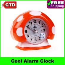 Cute Mushroom Hair Style Alarm Clock Table Clock,(China (Mainland))
