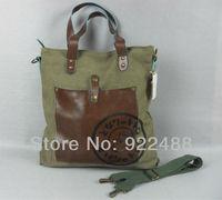 Brand new Dark Yellow /Army Green Cool canvas Shoulder bag School Hand Totoro-bag
