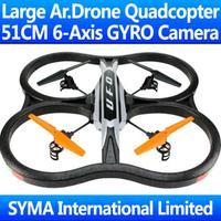 51CM Biggest 2.4G 4.5CH With Camera 6-Axis GYRO RC Quadcopter AR.Drone 2.0 VS WL V262 V959 UDI U818A Quad Copter Helicopter X30V