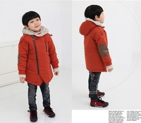 Retail  !2013 winter fashion  children thickening coat boys outerwear overcoat male child outerwear boy jacket (BGW-019)