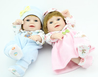 "10"" Reborn Baby doll twins full vinyl Super Simulation newborn Baby Doll Lifelike handmade doll"
