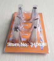 Factory Wholesale Icing Piping Nozzles Pastry Tips Cake Fondant Decorating Tools 10sets/lot --A113