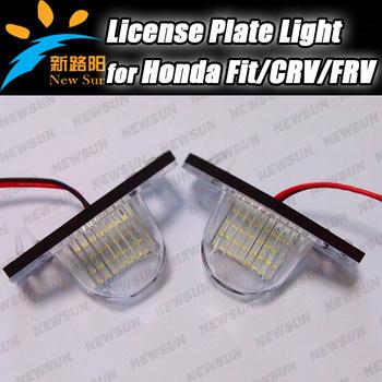 Factory direct supply 18 smd license number plate lamp LED lighting for Honda JAZZ Odyssey Stream Insight Logo CRV FRV