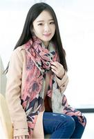 2014 Hot Sale Pretty Summer Floral Printing Woman Long viscose scarf/100*180cm/WJ-176