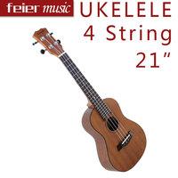 Enya 21'' Mahogany  Soprano Ukelele Aquila 4 String Rosewood Fingerboard Acoustic Small Guitar Free Ukulele Bag