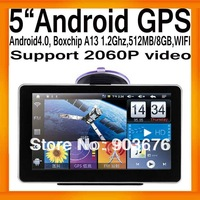 "FreeShipping Newest 5""Android4.0 GPS Tablet PC MID IGO GPS Map Boxchip A13 1.2G 512MB/8GB FMT WIFI Support 2060P Video"