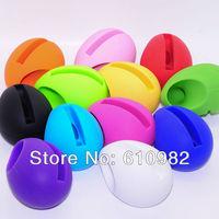 Hot Sale Fashion Music Egg Shape Silicone Stander Audio Dock Loudspeaker Amplifier For iPhone5 Wholesale 10 PCS