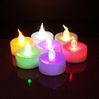 23% SHIPPING FREE Colorful Color LED Tea light Electric Candle Wedding Decoration Candles (100pcs/set)