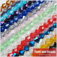 100Pcs/Lot 4mm Bicone Faceted Glass Crystal Spacer Beads For Jewelry Making 17Colors In Total Free Shipping No.CB2