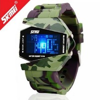 Famous Brand LED Watch 50 Meter Waterproof mens students Military Army Sports Silicon Watches Top Wristwatch Free Ship