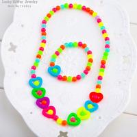 Love children neckl brac Suit baby sweet necklace hair accessory  wholesale 4pcs/lot
