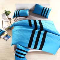 2013New!High Quality fashion sport bedding set 100%cotton twin/Queen/king size bedclothes the bed linen bed sheet free shipping
