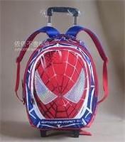 Spiderman Trolley school bag Mochilas Kids Cartoon primary school bag wheels backpack trolley luggage on wheels for boys satchel