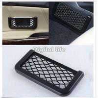 *2013 New 15X8cm Automotive Bag With Adhesive Visor Car Net Organizer Pockets Net 10710