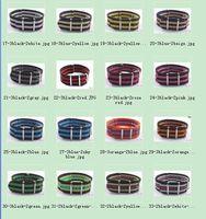Wholesale 10 Pcs/Lot  22MM  Colorful Nylon Watch Strap Band Strip Watchbands 16color available