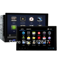 Universal 2 Din Car DVD With 7 Inch Detachable Panel Android 4.0 1Ghz Tablet Pad Car Radio 3G/WIFI Bluit-in GPS Ipod