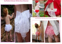 Baby PP skirt / Baby girl ruffle laced skirt with bowknot/ Infant dress /Three color: red ,pink & white