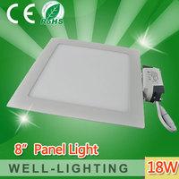 Free Shipping! SMD2835 led ceiling,AC85-265V,1900lm,18W square shape mini lled panel lighting,warmwhite/ white,10pcs/lot
