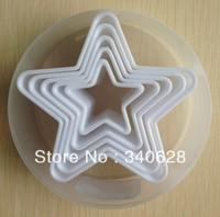 Factory Wholesale  Five-pointed Star Shape Mold Sugar Arts Set Fondant Cake Tools 10sets/lot