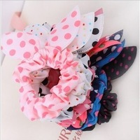 2013 Flower Hair Accessories Dot Leopard Elastic Hair Bands Headbands For Women Hair Bows