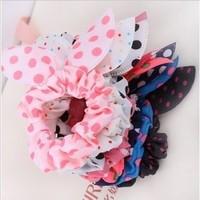 Wholesale 2014 Flower Hair Accessories Dot Elastic Hair Bands Headbands For Women Hair Bows