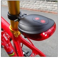 Genuine Bicycle Laser Tail Light( 2 Lasers + 5 LEDs) 7 Mode Bike Safety Red Rear Warning Light Cycling Safety Caution Lamp