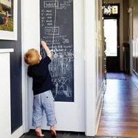 New Vinyl Chalkboard Wall Stickers Removable Blackboard Decals Great Gift for Kids 45CMx200CM with 5 Free Chalks 80641