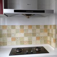 50x50cm Mosaic Self-adhensive Ceramic Tile Wall Paper Bathroom Kitchen Glass Film WaterProof