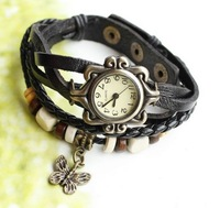 2013 new,Punk style!retro pattern leather watch, bracelet watch, ladies fashion watch. Factory outlets.free shipping !