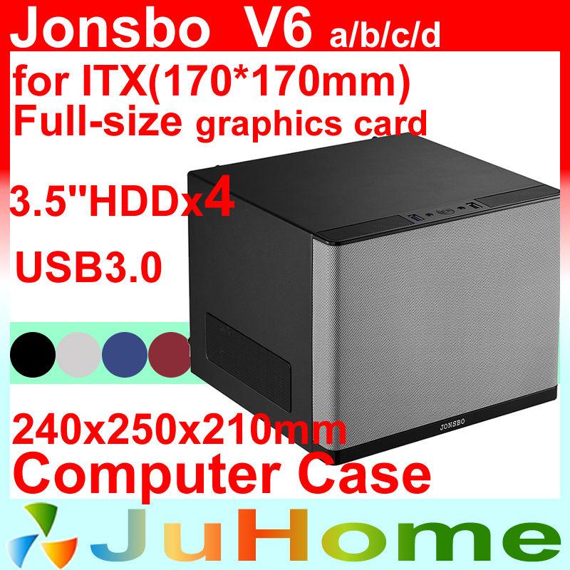 HTPC Mini case, USB3.0, PCI Slot computer case, Home Theater Multimedia Computer Chassis, Jonsbo V6, Other V4 V2 V3+ U1 U2 U3(China (Mainland))