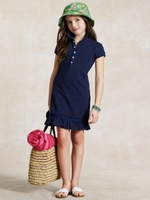 2013 new Girls dress kids polo dress fit  childrens Short Sleeve style 7 Color free shipping