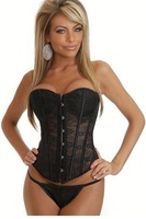 Free shipping New Sexy Corsets 2013 Woman Black Overbust Corset LB4386